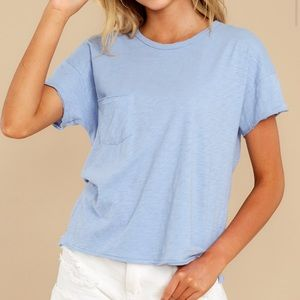 Z supply- The Forever Blue Lina Slub Tee